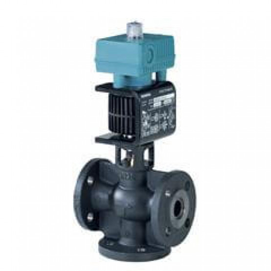 Смесительный/2-ходовой клапан с магнитным приводом, фланцевое соединение, PN16, DN32, kvs 12, AC / DC 24 В, DC 0/2 ... 10 В / 4 ... 20 мА