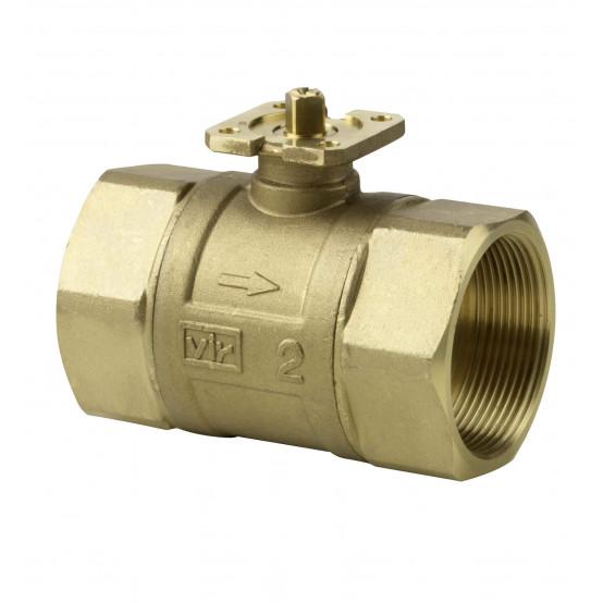 Клапан шаровой 2-ходовой, внутренняя резьба, PN40, DN50, KVS 40