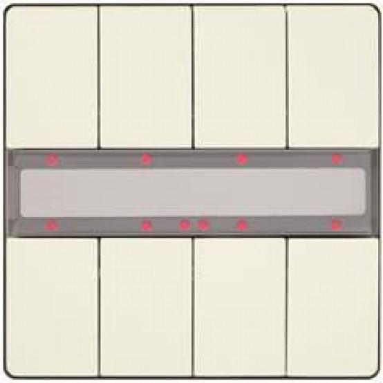 Четыре пары клавиш, светодиод состояния, титаново-белый