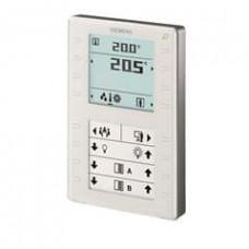Комнатный модуль KNX с датчиком температуры, сегментированным дисплеем с подсветкой, конфигурируемые сенсорные клавиши, светодиодный дисплей