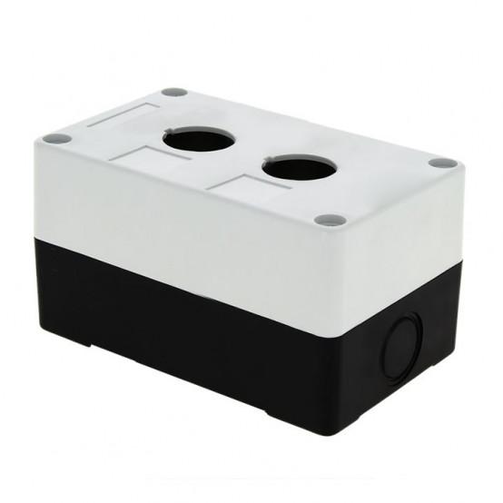 Корпус КП102 пластиковый 2 кнопки белый EKF PROxima