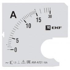 Шкала сменная для A721 15/5А-1,5 EKF PROxima
