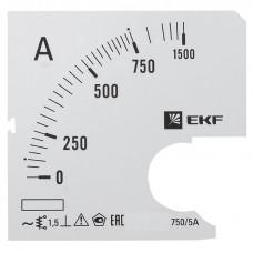 Шкала сменная для A961 750/5А-1,5 EKF PROxima
