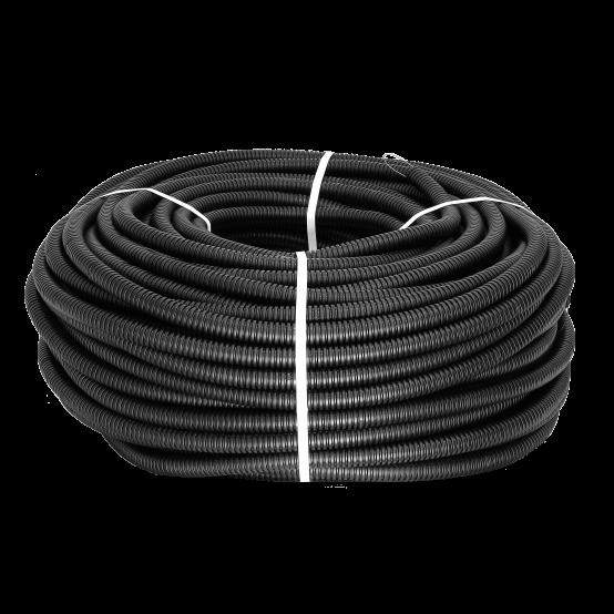 Труба гофр. ПНД Plast с зондом d16мм (25м.) черная EKF PROxima
