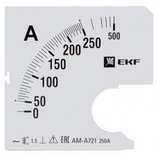 Шкала сменная для A721 250/5А-1,5 EKF PROxima