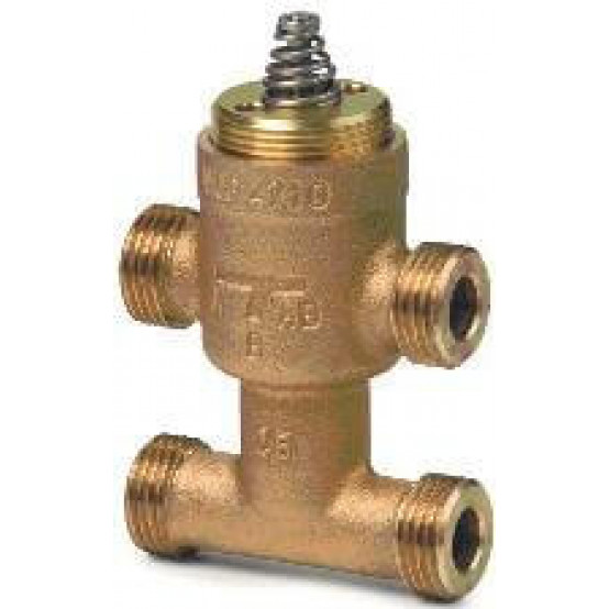 Клапан регулирующий, 3-х ходовой, KVS 0.25, DN 10, шток 2.5