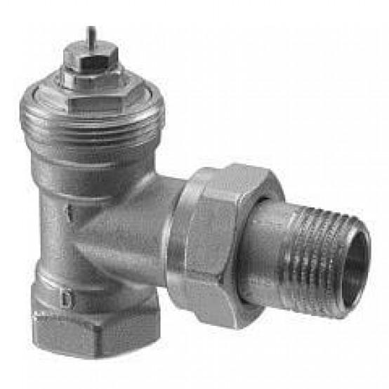 Угловые радиаторные клапаны, DIN, 2-х трубная система, PN10, DN10, kv 0.09..0.63