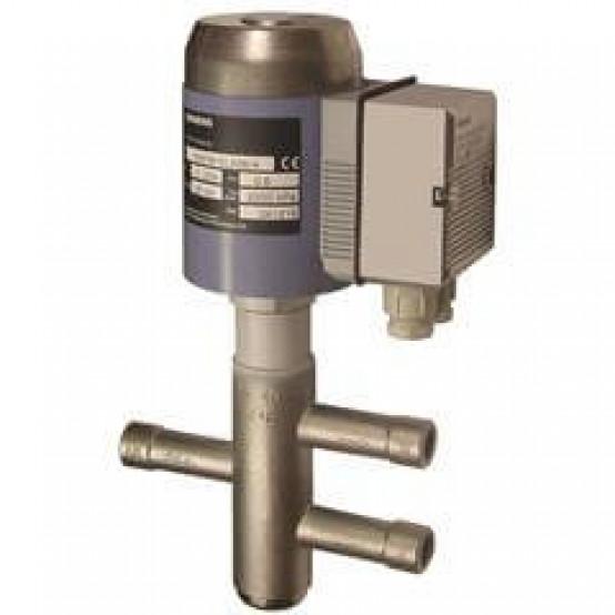 Разделительный/2-ходовой клапан для хладагентов, соединение пайкой, PN32, DN25, kvs 8, AC 24 В, DC 0...10 V / 4...20 мА / 0...20 Phs