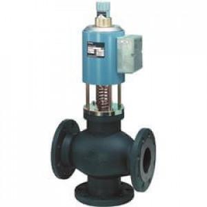 Смесительный/2-ходовой регулирующий клапан, фланцевый, PN16, DN80, kvs 80, AC 24 В, 0/2...10 В, 4...20 мА, для сред с минеральным маслом