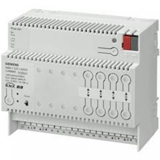 Модуль управления жалюзи N 521, 4х230V AC 6A, с распознаванием конечных точек хода, для установки на DIN-рейку, 4 ТЕ
