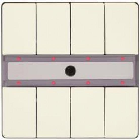 Четыре пары клавиш, светодиод состояния, с контроллером сцен, с ИК-приёмником, титаново-белый