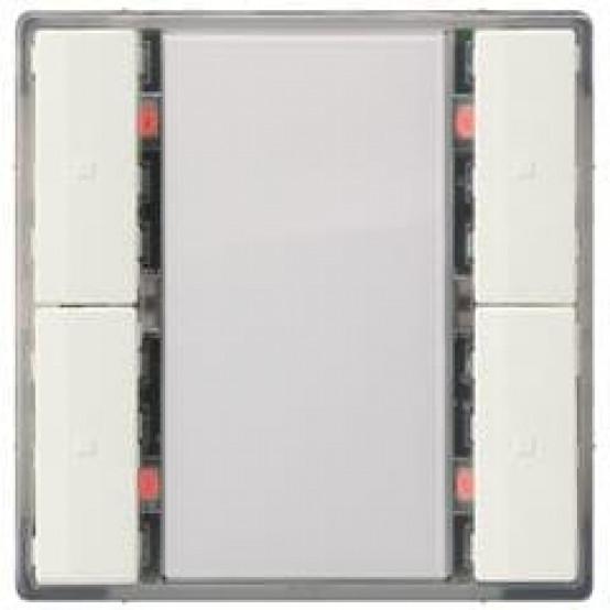 Выключатель кнопочный UP 221/2, одинарный, без индикации, нейтральный, DELTA i-system, титановобелый