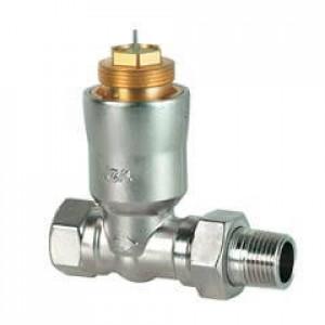 2-ходовые седельные радиаторные клапаны, DIN, с компенсацией давления, dpw 10 кПа, PN10, DN15, 95...483 л/ч