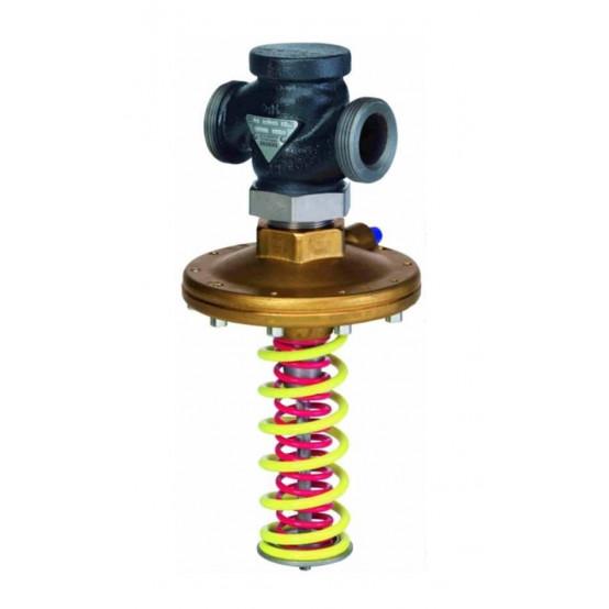 Регулятор перепада давления, PN25. Стандартный вариант с регулируемыми установками Δpw (красная пружина)