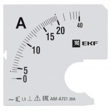 Шкала сменная для A721 20/5А-1,5 EKF PROxima