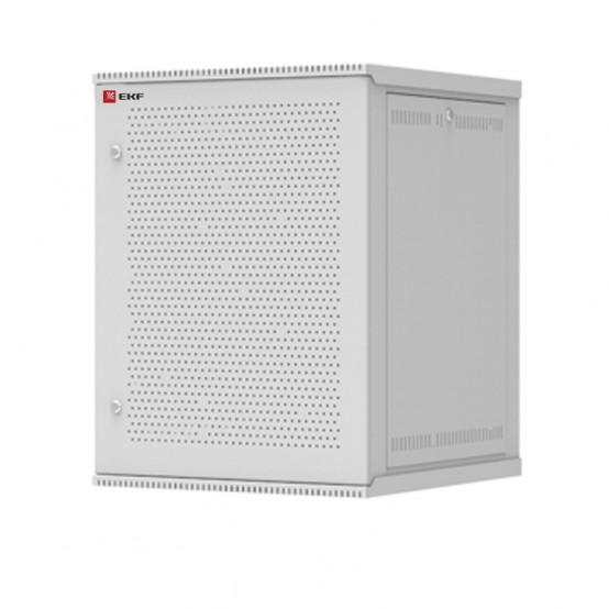 Шкаф телекоммуникационный настенный разборный 15U (600х650) дверь перфорированная, Astra серия EKF PROxima