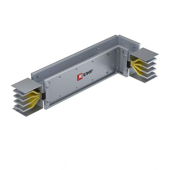 Угловая вертикальная секция c нестандартным плечом 1250 А IP55 AL 3L+N+PE(КОРПУС)