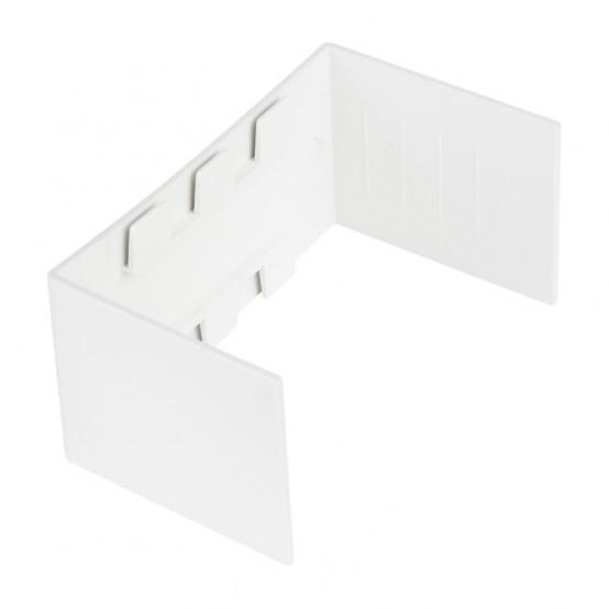 Соединитель (60х40) (4 шт) Plast EKF PROxima Белый