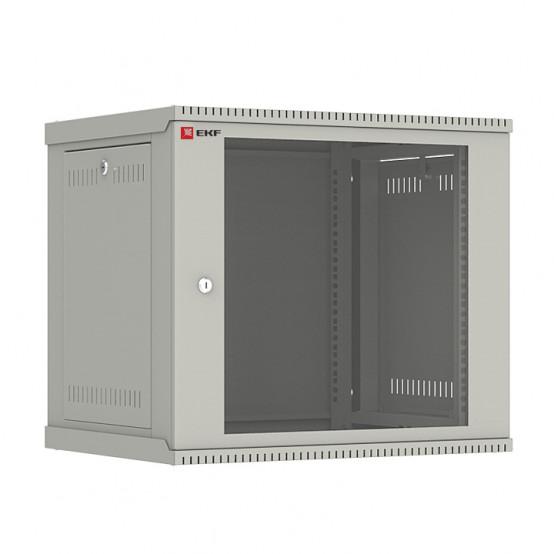 Шкаф телекоммуникационный настенный разборный 9U (600х450) дверь стекло, Astra E серия EKF PROxima