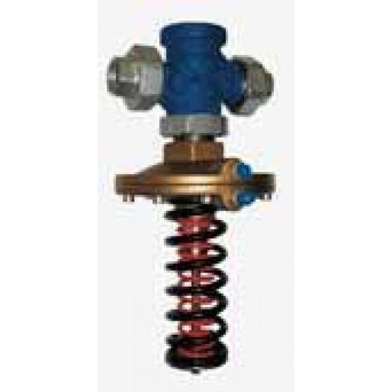 Регулятор перепада давления, PN25. Стандартный вариант с регулируемыми установками Δpw (желтая пружина)