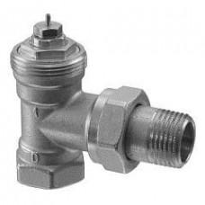 Угловые радиаторные клапаны, DIN, 2-х трубная система, PN10, DN15, kv 0.10..0.89
