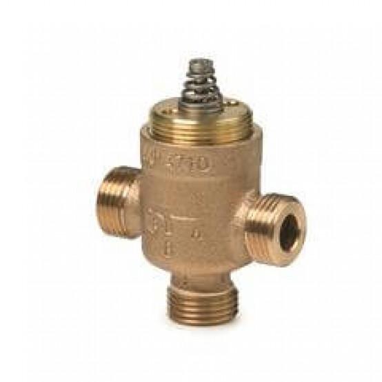 Клапан регулирующий, 3-ходовой седельный, внешняя резьба, PN16, DN10, KVS 0.25