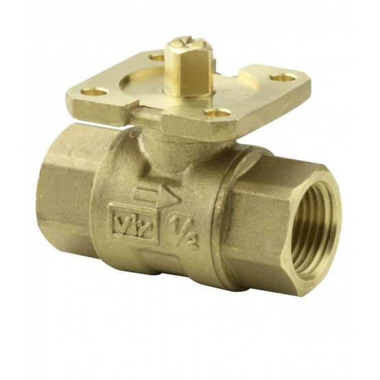 Клапан шаровой 2-ходовой, внутренняя резьба, PN40, DN15, KVS 1.6