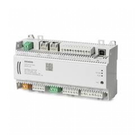 Компактный комнатный контроллер, BACnet/IP, 24 V, корпус DIN, 3 DI, 4 UI, 2 резистивных входа, SCOM, 4 AO, 4 тиристорных выхода