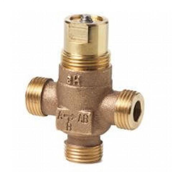 Клапан регулирующий, 3-ходовой седельный, внешняя резьба, PN16, DN15, KVS 0.4