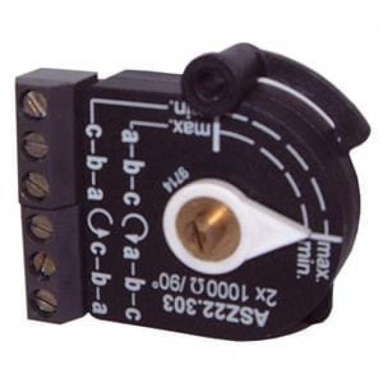 Одинарный потенциометр, провод, 90 °, 220 Ω