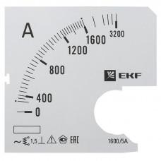Шкала сменная для A721 1600/5А-1,5 EKF PROxima