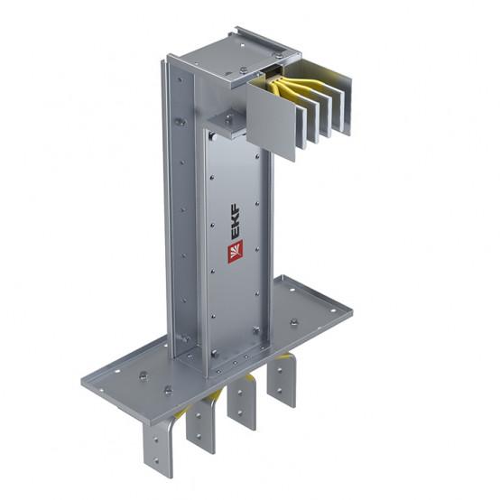 Фланцевая секция с вертикальным углом для подключения к щиту 1250 А IP55 AL 3L+N+PE(ШИНА)
