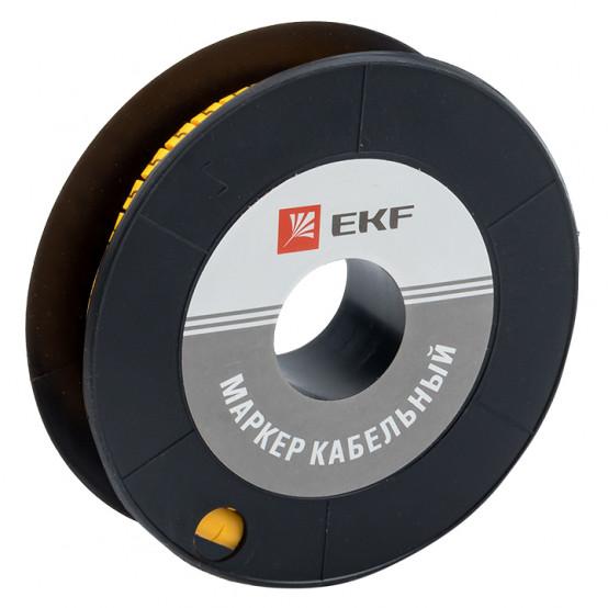"Маркер кабельный 2,5 мм2 ""2"" (1000 шт.) (ЕС-1) EKF PROxima"