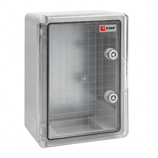 Бокс пластиковый с монтажной платой прозр. дверь 350х250х150 мм IP65 EKF PROxima