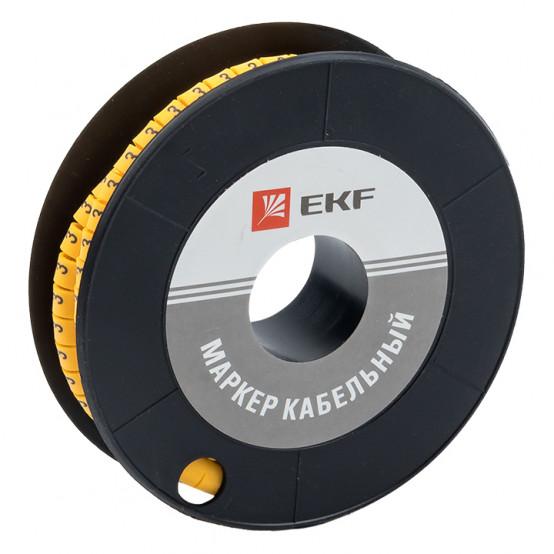 "Маркер кабельный 4,0 мм2 ""3"" (500 шт.) (ЕС-2) EKF PROxima"