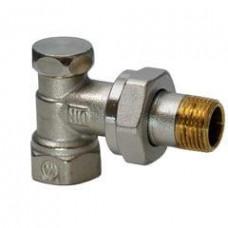 Угловой радиаторный клапан, PN10, DN15, kvs 0..2.5