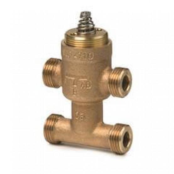 Клапан регулирующий с байпассом, седельный, 3-ходовой, внешняя резьба, PN16, DN10, KVS 0.63