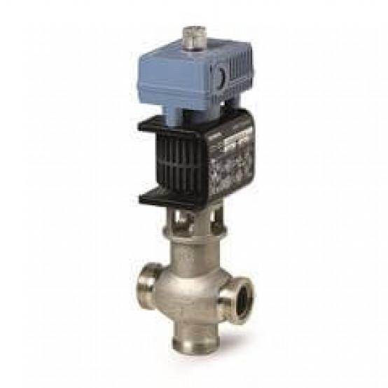 Смесительный/2-ходовой магнитный регулирующий клапан, внешняя резьба, PN16, DN25, kvs 8, AC / DC 24 В, DC 0/2...10 В / 4...20 мА
