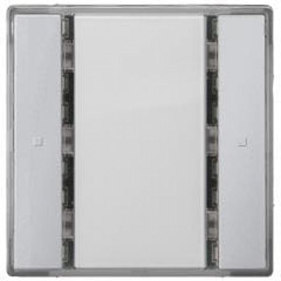 Выключатель кнопочный UP 221/2, одинарный, без индикации, нейтральный, DELTA i-system, алюминиевый металлик