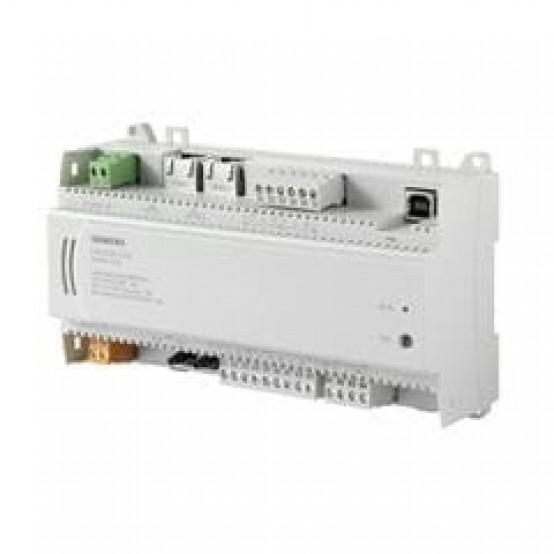Компактный контроллер, BACnet/IP, 24 V, корпус DIN, 1 DI, 2 UI, 2 AO, 6 тиристорных выходов, датчик давления, 60 точек