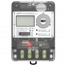 Счетчик электрической энергии однофазный прямого включения многотарифный с радиомодемом LPWAN+3G и функцией дистанционного отключения электроэнергии ЛУЧ-УЭ1 5(60)А; ОАQUVFI-С (Оптопорт; интерфейс RS-485; параметры качества ЭЭ; Электронная пломба