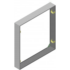 Кожух для навесной установки ЩЭ (1006х956х140) EKF Basic