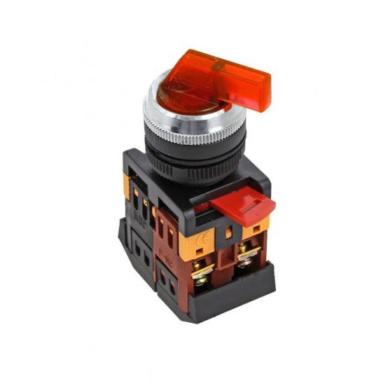 Переключатель ANLC-22 3P красный с подсветкой 220В NO+NC EKF PROxima