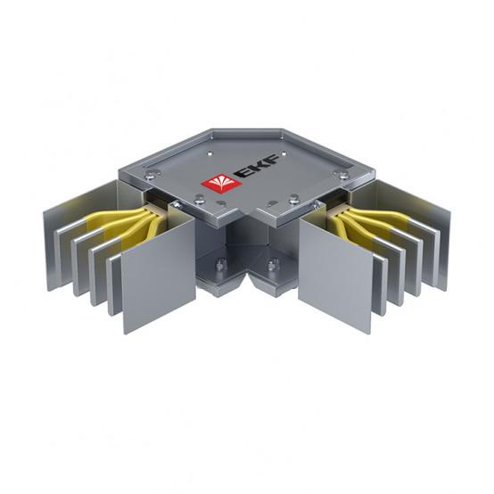 Угловая горизонтальная секция 1250 А IP55 AL 3L+N+PE(ШИНА)