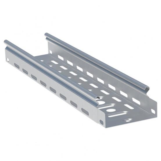 Лоток перфорированный металлический 50х600х3000-1,0мм (6м) EKF