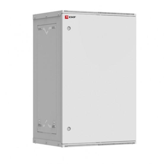 Шкаф телекоммуникационный настенный разборный 18U (600х350) дверь металл, Astra серия EKF PROxima