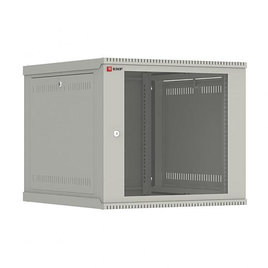Шкаф телекоммуникационный настенный разборный 9U (600х650) дверь стекло, Astra E серия EKF PROxima