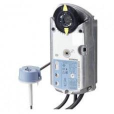 Привод для противопожарных клапанов, AC/DC 24 В, 2-точечный, 4 Нм, пружинный возврат 90/15 с, 2 доп. переключателя, шток 10 x 10 мм, с термодатчиком
