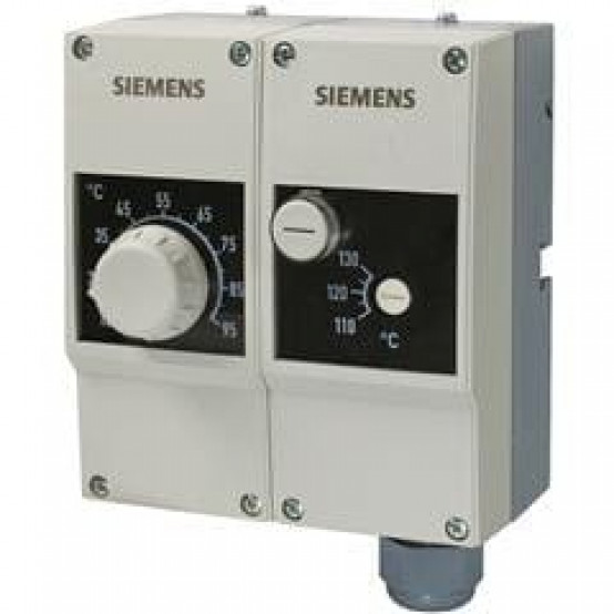 Контроллер температуры / ограничивающий термостат, TR 15...95 °C / STB 100°C, двойная защитная гильза 100 мм; две капиллярных трубки по 700 мм