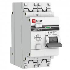 Дифференциальный автомат АД-32 1P+N 16А/10мА (хар. B, AC, электронный, защита 270В) 4,5кА EKF PROxima